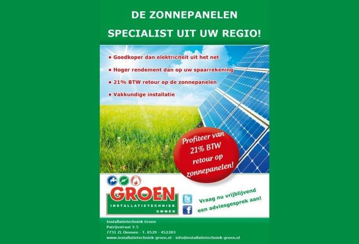 BTW terugvorderen op aanschaf zonnepanelen