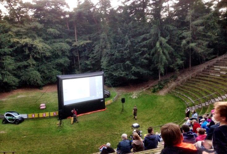Bostheater Ommen draait film met hulp van zonnepanelen
